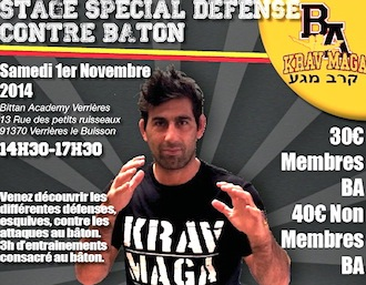 STAGE KRAV MAGA SPECIAL « DEFENSE CONTRE BATON » BY PATRICK BITTAN