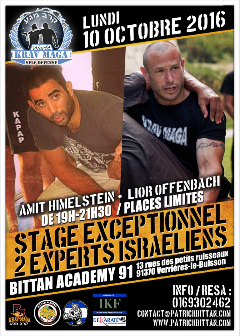 Stage Krav Maga « 2 Experts Israélien a la BA 91 »