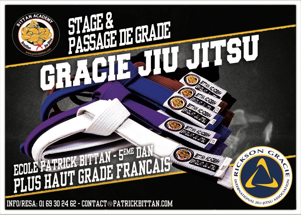 40eme Stage et Passage de Grade Gracie Jiu-Jitsu TBA Paris